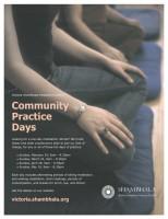 Community Practice Days