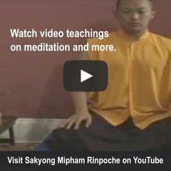 Sakyong Mipham Rinpoche YouTube Channel