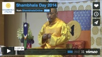 Shambhala Day Broadcast 2014